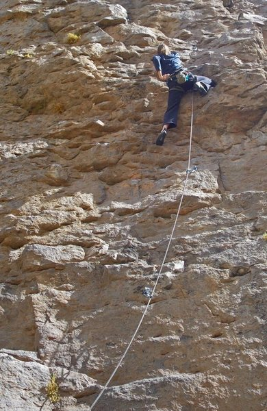 Rock Climbing Photo: A nice 5.8 on the far right side of the Great Wall...