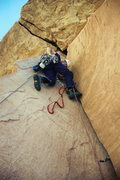 Rock Climbing Photo: Sac bumping cams out the fantastic P2.  Some class...