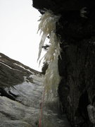 """Rock Climbing Photo: Looking up at """"The Hand"""" in early season..."""