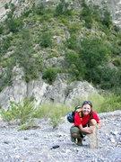 Rock Climbing Photo: Carolyn's trophy from climbing Cactus Pile.  Today...