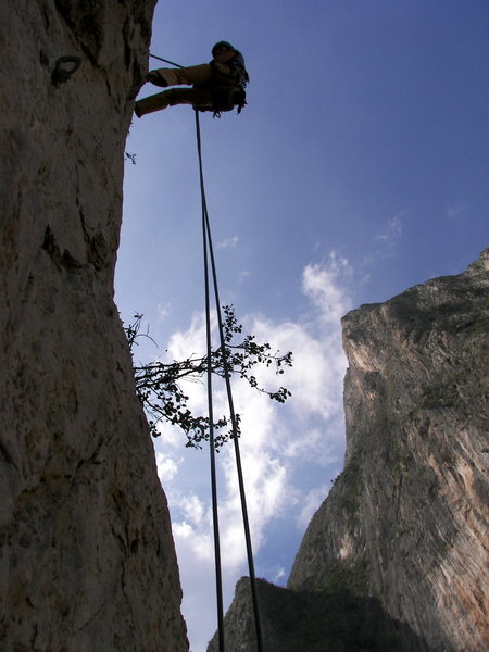 Rappelling off The Spires
