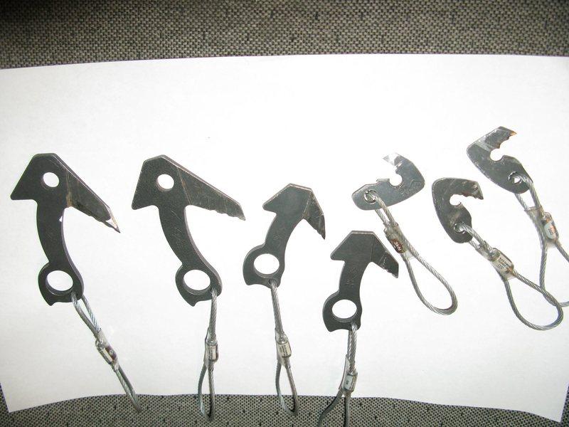 Rock Climbing Photo: modified hardware and some originals for compariso...