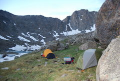 Rock Climbing Photo: Camping spot next to the bowl of tears. We had gia...