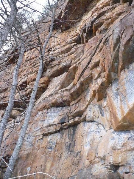 Rock Climbing Photo: Hammer Time, T-Wall, TN.