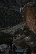 Rock Climbing Photo: Tcamillieri topping out Nerve Damage.  Photo JE.