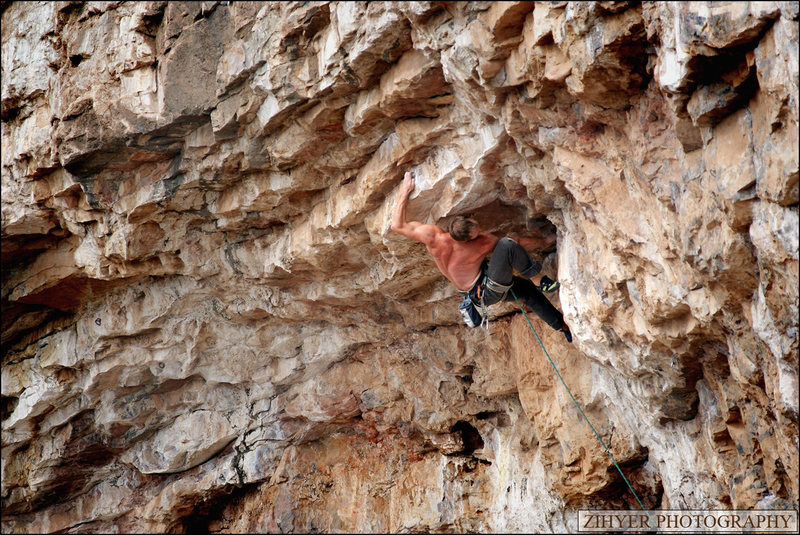 Rock Climbing Photo: Spinal Twist earns its name.