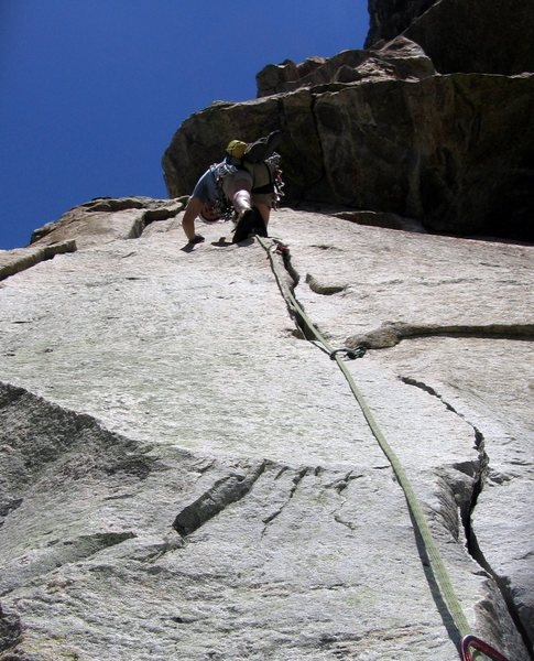 A very fine hand crack on Guides' Wall