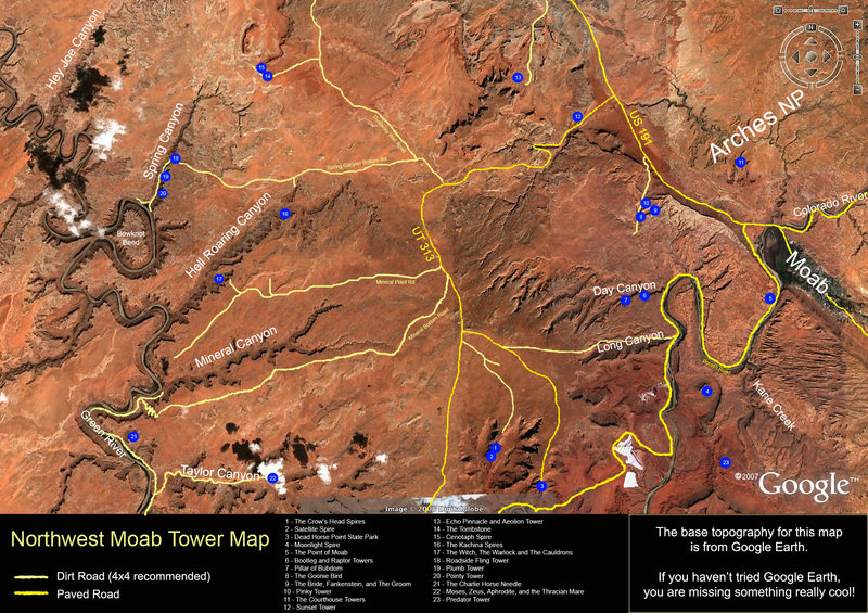 NW Moab tower map.