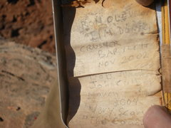 Rock Climbing Photo: From the summit register on top of The Witch.  The...