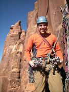 Rock Climbing Photo: Matt feeling good about his protection opportuniti...