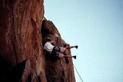 Rock Climbing Photo: my weak attempt at a flag