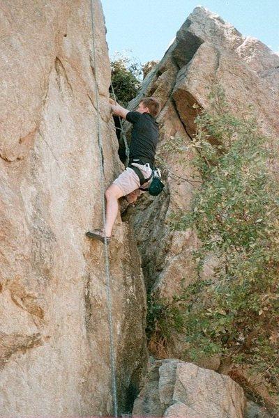 Rock Climbing Photo: going up something