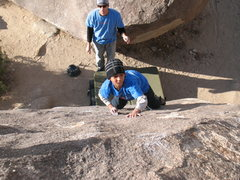Rock Climbing Photo: Going for a good edge on Smoothie (V0+), Joshua Tr...