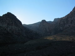 Rock Climbing Photo: View from near trailhead in late November afternoo...