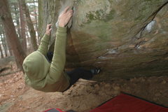 Rock Climbing Photo: Katie, a couple weeks back on a cold sunday mornin...