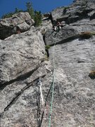 Rock Climbing Photo: First belay on Mount Thorodin CMC route. Did I rea...