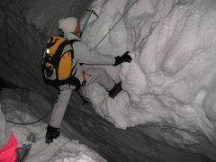 Rock Climbing Photo: Waiting in line at a crevasse.