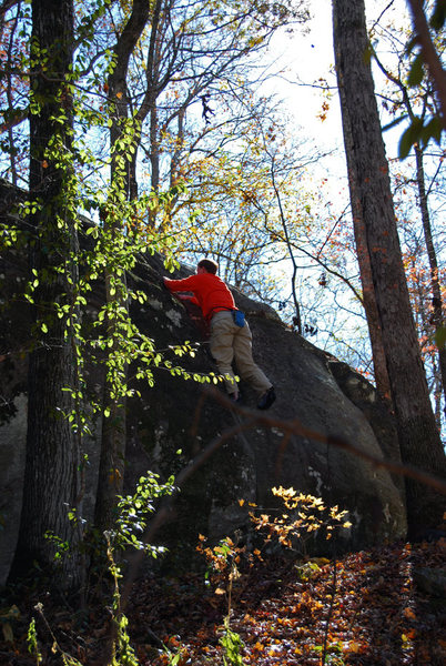 Rock Climbing Photo: Jon on Mulva