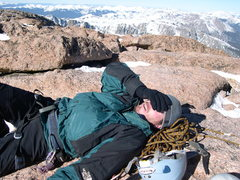 Rock Climbing Photo: Will Drexler on the summit. He was a little tired....
