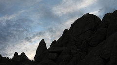Rock Climbing Photo: Schmaltz area silhouette. Photo by Blitzo.