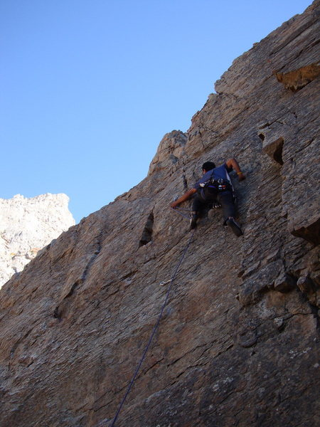 Rock Climbing Photo: Leading in Rock canyon, UT