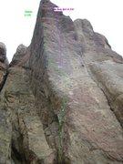 Rock Climbing Photo: Vision follows the left arete, Go Dog, Go! follows...