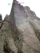 Rock Climbing Photo: Go Dog, Go! takes the plumb line straight up the f...