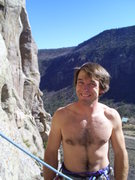 Rock Climbing Photo: thats me without my shirt but, all my hair