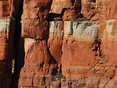 Rock Climbing Photo: Mark G on the crux of Shotgun Wedding, a nice warm...