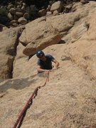 "Rock Climbing Photo: Eric near the top of ""Me Love You Long Time&q..."
