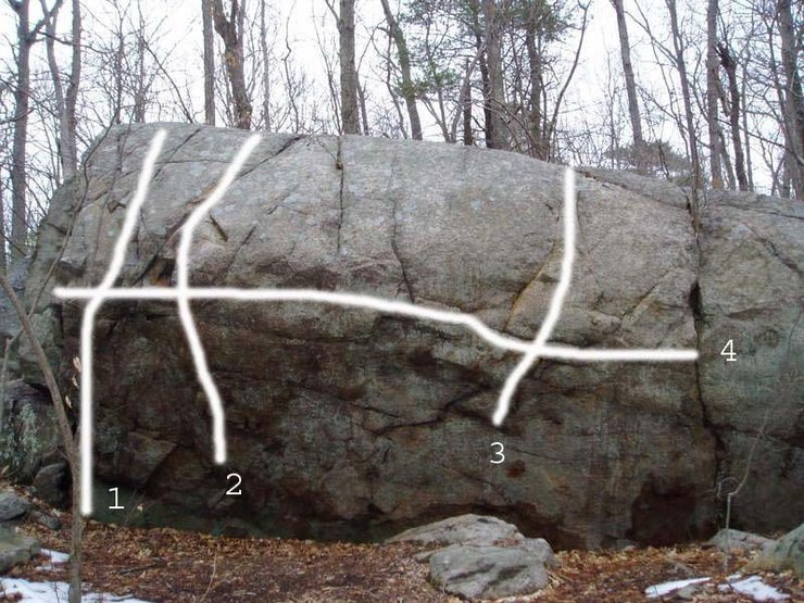 Rock Climbing Photo: West Side Boulder at the junction of West Side Tra...