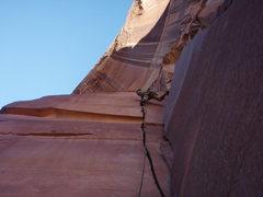 Rock Climbing Photo: the crux begins