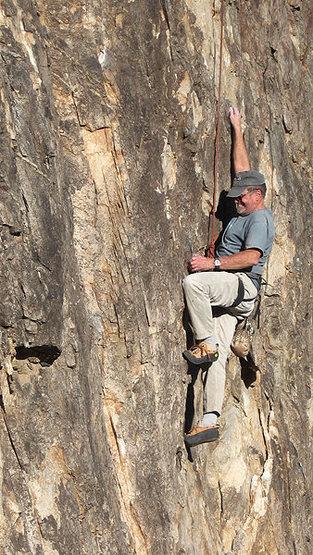 Rock Climbing Photo: Woody Stark on White Out. Photo by Blitzo.