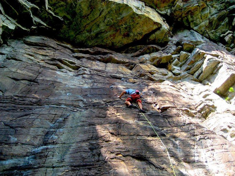 Rock Climbing Photo: Sorry for the butt shot!