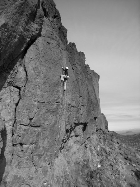 Rock Climbing Photo: Allison leading through the final thin moves. Dece...