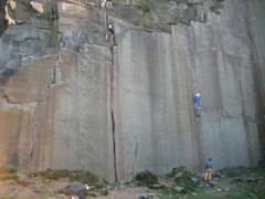 Rock Climbing Photo: Embankment Routes #1, 2, and 3