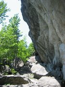 Rock Climbing Photo: A look at the steepness