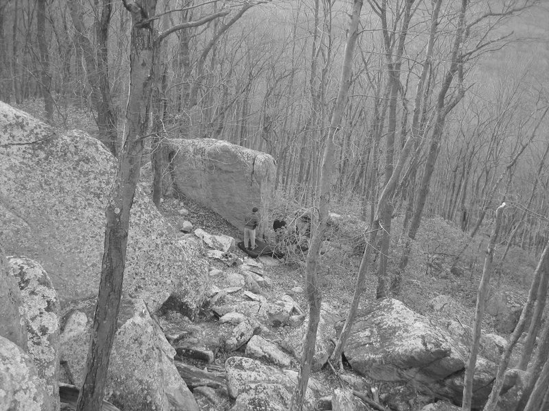 Webber Boulder from Entrance Area
