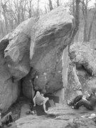 Rock Climbing Photo: Ten High climbs the right arete