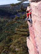 Rock Climbing Photo: Paul Wagener topping out on Upper Diagonal.