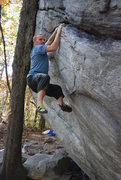 Rock Climbing Photo: Something easy to the right of Dime Crack