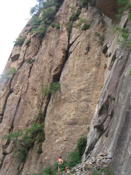 Rock Climbing Photo: cool day