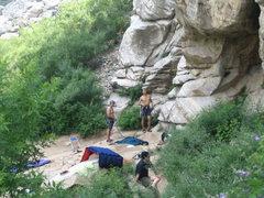 Rock Climbing Photo: rest area