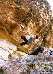 John Duran on Your Resignation Please, 5.13a , Pinon, AZ.