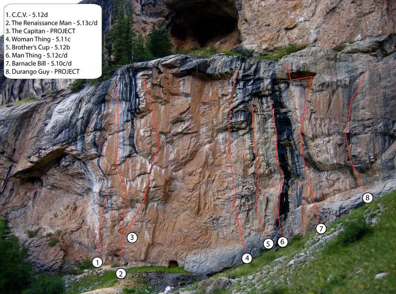 Rock Climbing Photo: Mileski Wall routes.