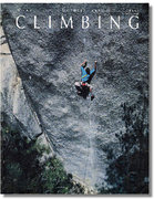 Rock Climbing Photo: Johnny Woodward on the cover of Climbing doing The...