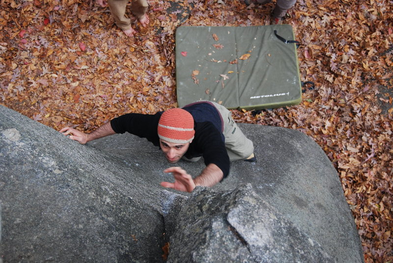 Johnathan on problem to left of Gaping Crack.