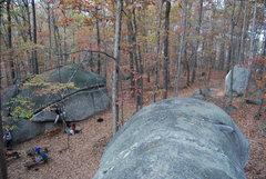 Rock Climbing Photo: Rockhouse traverse on left, Watermelon ahead on ri...