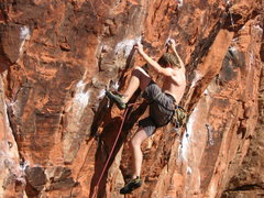 Rock Climbing Photo: Wolfgang Braun moving through the first crux of Th...