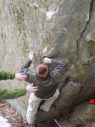 Rock Climbing Photo: John K. crimpin' away